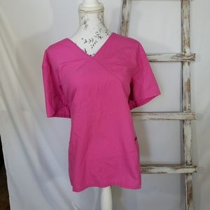 Plus Size Nurse Scrub Pink Size 2X